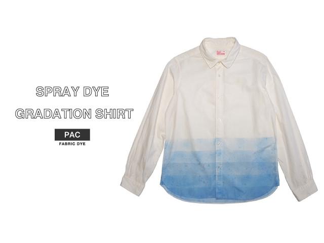 スプレー染め グラデーションシャツ
