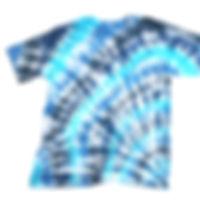 2020年の流行色 ブルー系のタイダイ