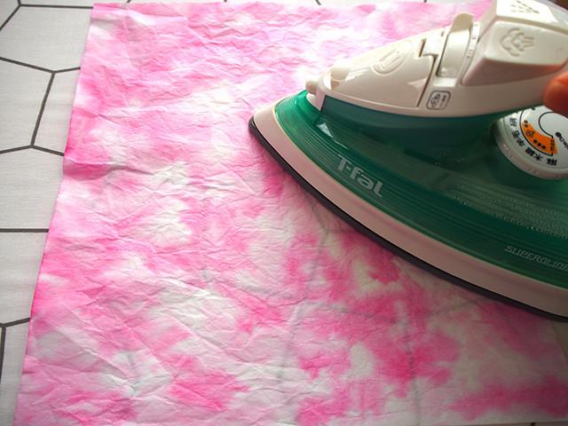 桜 和紙 染め