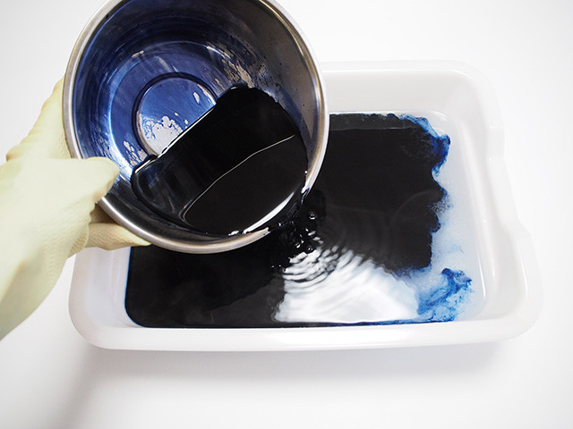 板締め絞り 風呂敷 作り方