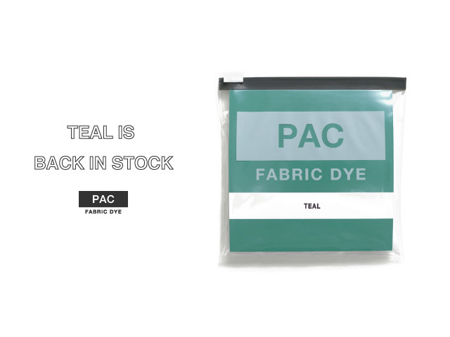 PAC FABRIC DYE TEAL 再入荷