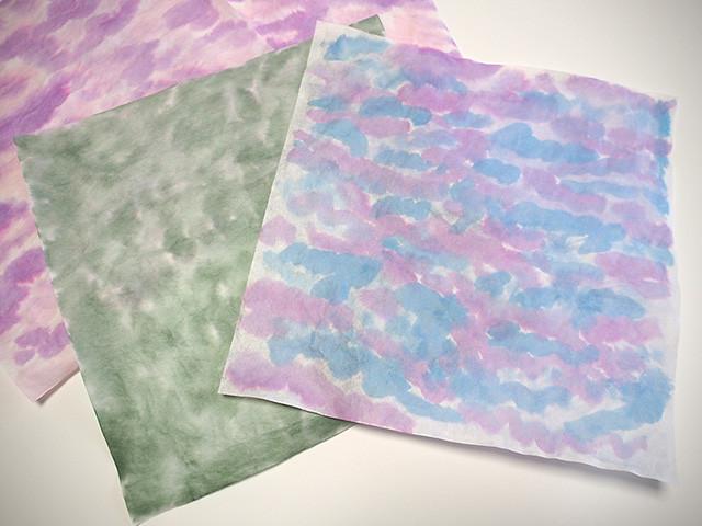 アジサイ 折り紙 和紙染め