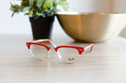 Ray Ban Glasses with Red Trim