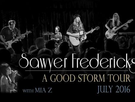Sawyer Announces Midwest/East Coast July Tour
