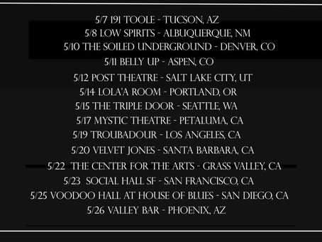 Sawyer Announces West Coast Tour Dates!!!
