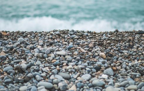 playa de gravilla