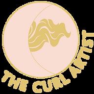 the curl artist pink & gold logo trans b