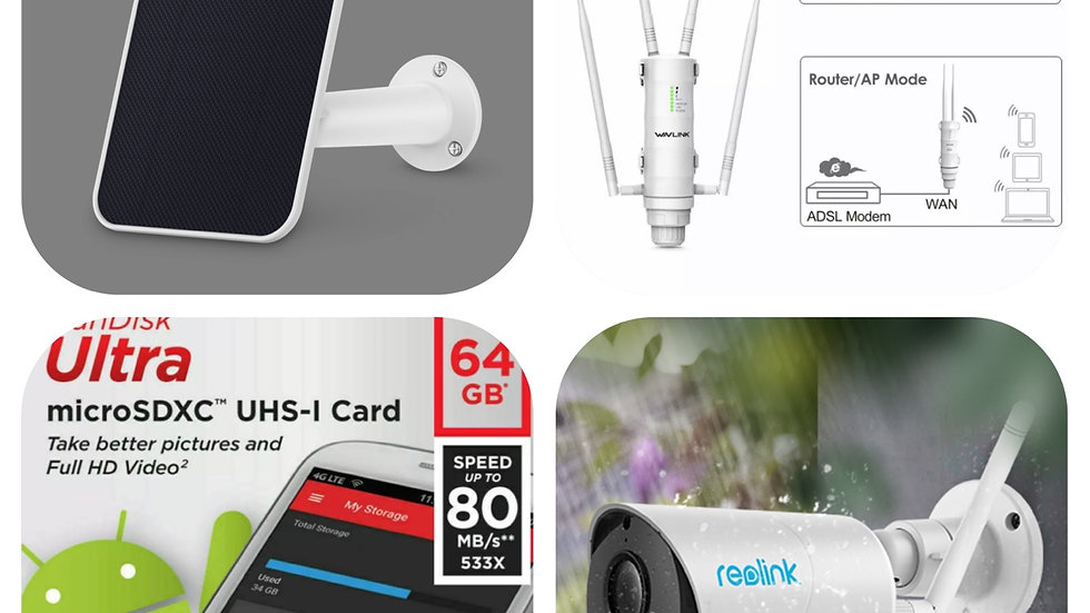 Reolink home pack / 4x WIFI cameras /1x WIFI booster