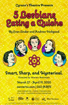 5 Lesbians Eating a Quiche 11x17 Poster