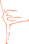 DanceWest Classic Logo - Orange.png