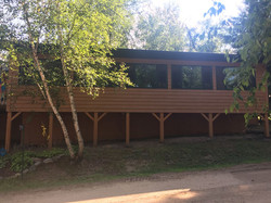 Back of Treehouse Cabin