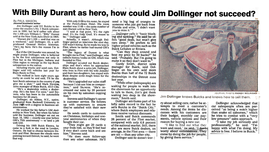 How Could Jim Dollinger Not Succeed?