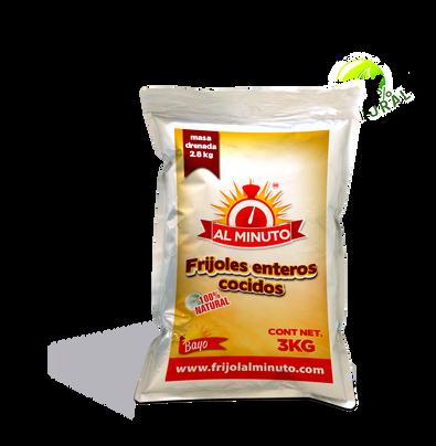 Frijol bayo cocido entero de 3 kg.