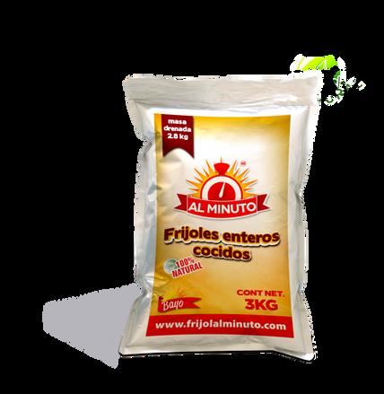 Frijol bayo cocido | Bolsa de 3 Kg.