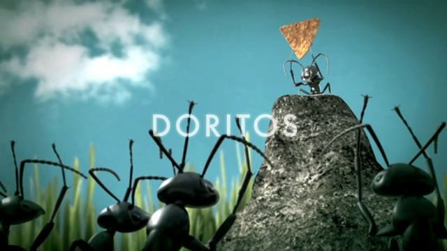 "Doritos Crash the Superbowl 2011-2012 ""CelebritAnt""  For 5 days we had fun with this project.  (Crew & Cast)  Production Jorge Arana - Director/Editor Matt Bucher - Associate Producer Brenday Leahy - Director of Photography  Creative Gabo Curielcha - Art Director Bill Wanek - Copywriter Angel Martinez - Copywriter Addhemar Sierralta – Art Director  3D Animation & Post FX Rick Livingston- postproduction producer  Dan Bruce- lighter/ compositor / rigger / vfx supervisor / camera man  Rob Rice - modeler / lighter / compositor Alex Kline- modeler / lighter / compositor Drew Covert - animator / lighter / compositor  Audio & Mix Shawn Ballman  Singer Jonathan Desir – CelebritANT's voice  Cast Jamiee Kot Rachael Lynn P. Emiliano Arana Jenni Barrios Katherine Saxon Matt Bucher Angel Martinez Bill Wanek Amilia Arana Isabella Bianchi Myah Bastian  Hair & Makeup  Enrique Enriquez"