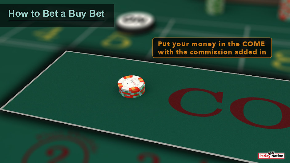 $21 in the COME with a sign saying to add commission to the bet when making the bet.