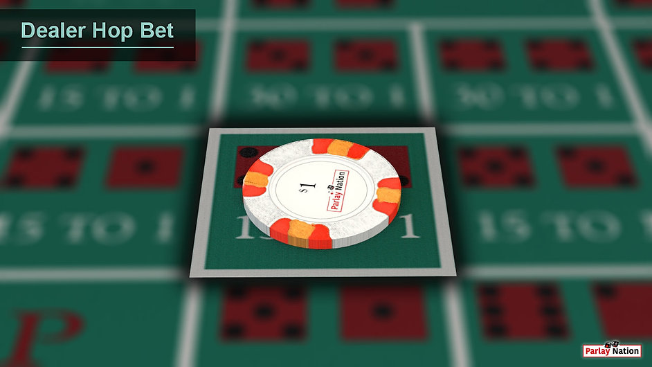 $1 bet in the middle of the forty-two.