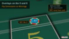 $30 bet with lay button behind the point five. Sign says $30 wins $20 + $1 commission = $31 total bet cost.