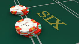 Up close view of point six. There is eighteen dollars on position six and twelve dollars on position eight.