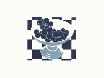Grapes in a Grey Bowl