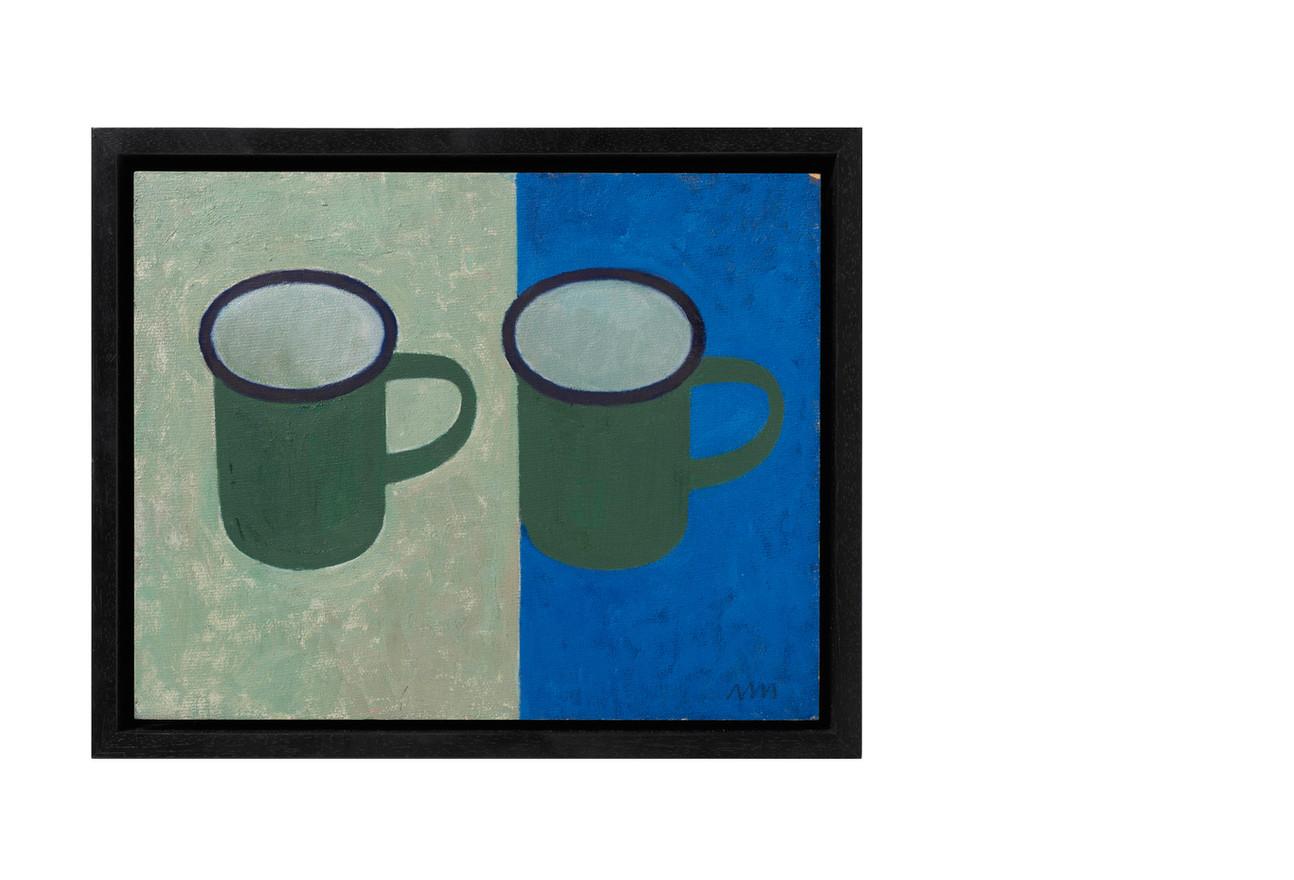 Two enamel mugs from Namibia