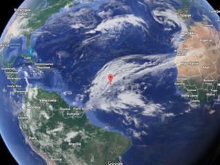 Nog 1231 mijl te gaan naar Martinique