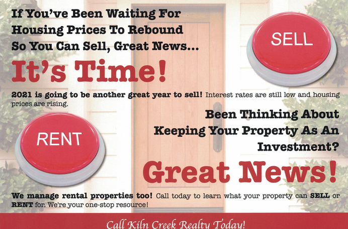 Sell Rent Button New Postcard Front04072