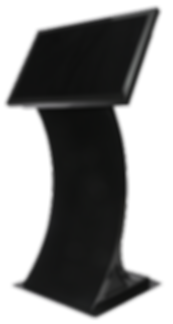 SeePoint Curved Kiosk - Kiosk w_ 32 Disp