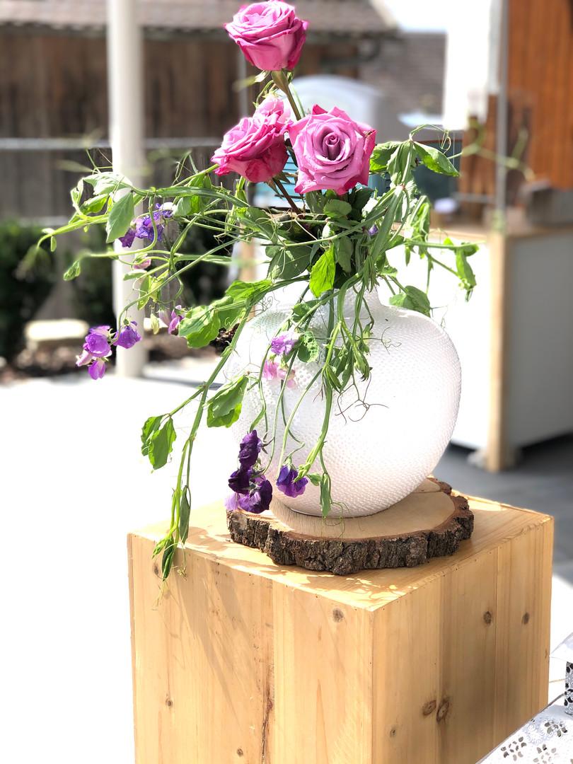 PM Eingangsbereich Blumendekoration