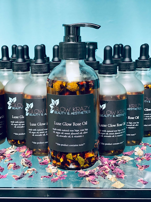 8oz Luxe Glow Rose Oil