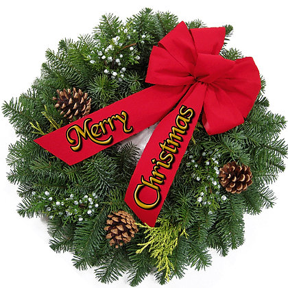 CHRISTMAS WREATH CANDLE