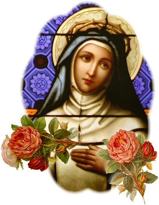 ST. TERESA OF THE LITTLE FLOWER CANDLE