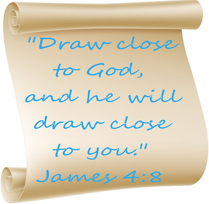 JAMES 4:8 PRAYER CANDLE