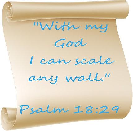PSALM 18:29 PRAYER CANDLE
