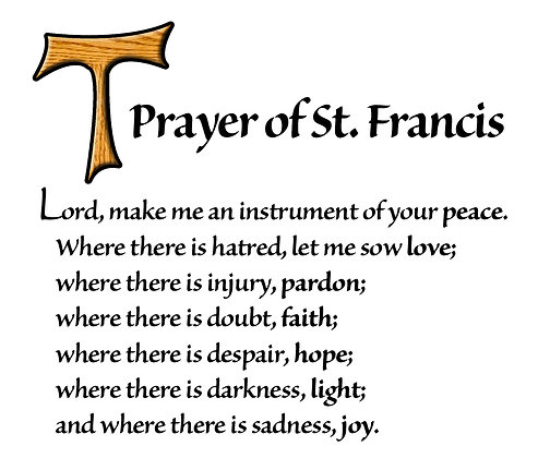 PRAYER OF ST. FRANCIS CANDLE