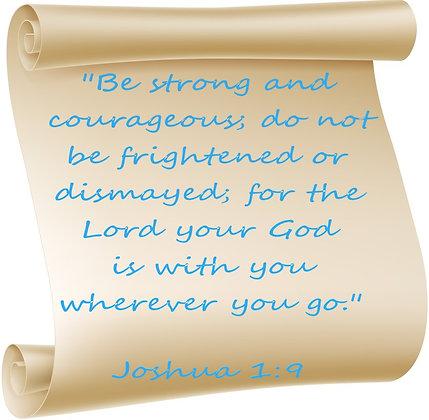 JOSHUA 1:9 PRAYER CANDLE