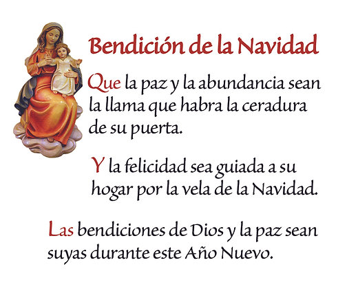 SPANISH CHRISTMAS BLESSING CANDLE