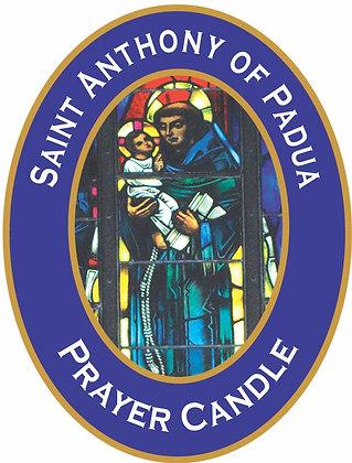 ST. ANTHONY PRAYER CANDLE