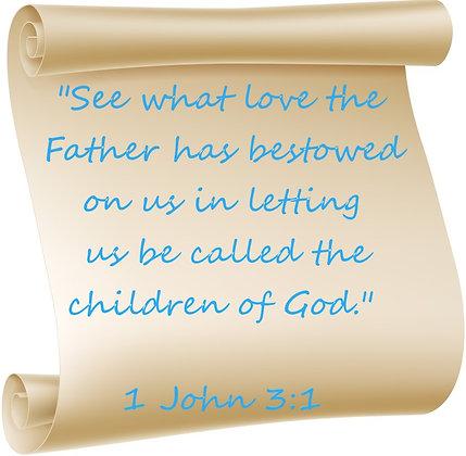 1 JOHN 3:1 PRAYER CANDLE