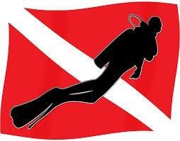 SCUBA FLAG CANDLE