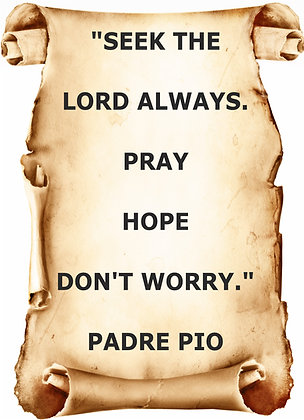 PADRE PIO QUOTE CANDLE