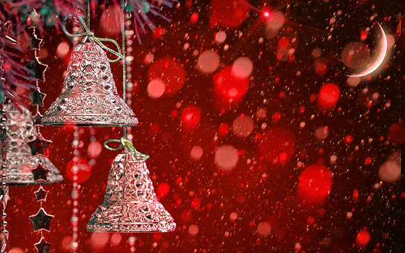 RED CHRISTMAS BELLS CANDLE