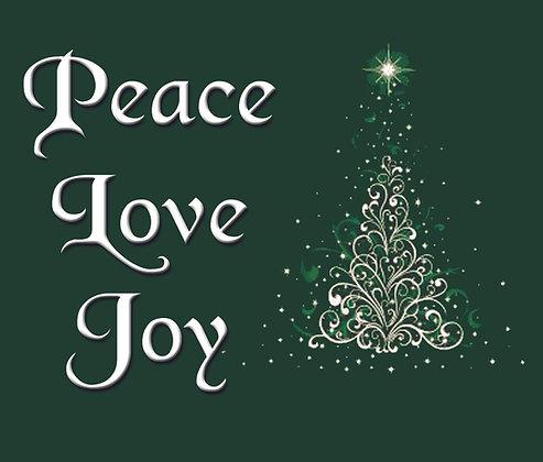 PEACE LOVE JOY CHRISTMAS CANDLE I