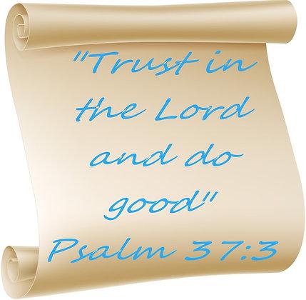 PSALM 37-3 PRAYER CANDLE