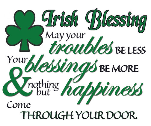 IRISH BLESSING CANDLE