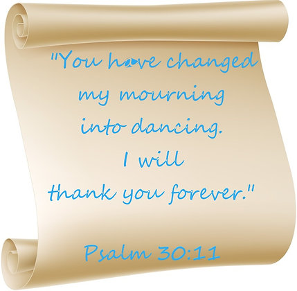 PSALM 30:11 PRAYER CANDLE