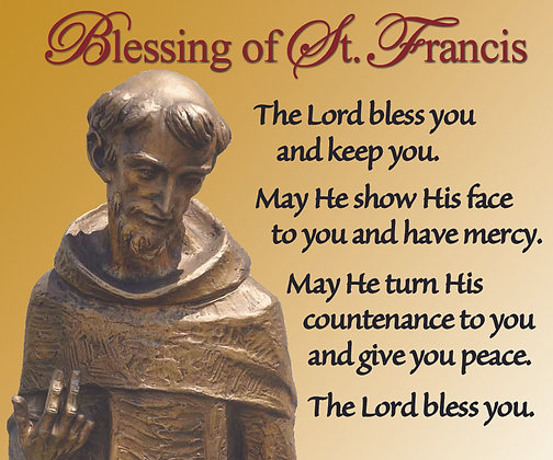 BLESSING OF ST. FRANCIS CANDLE