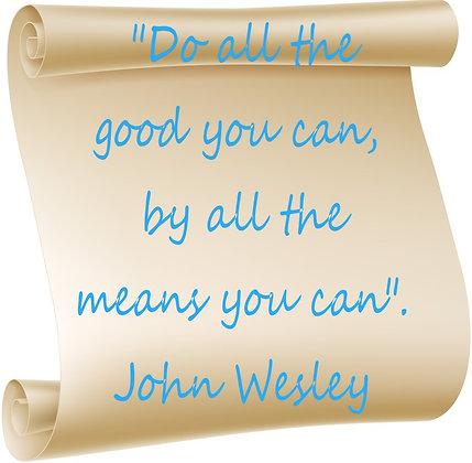 JOHN WESLEY CANDLE