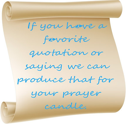 CUSTOM QUOTATION PRAYER CANDLE