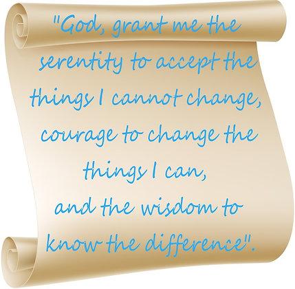 SERENITY PRAYER CANDLE